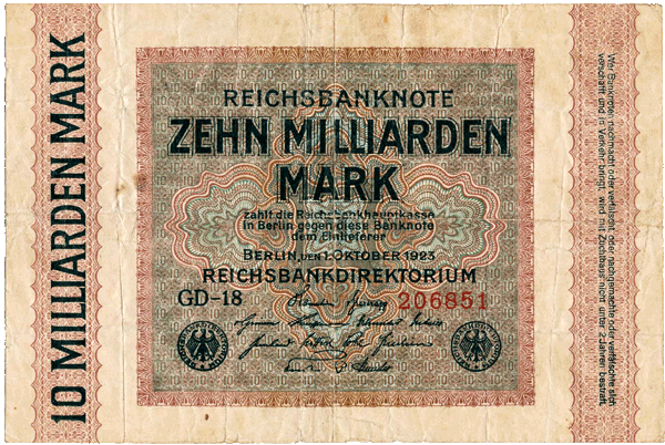 1923 - 10 Milliarden Mark