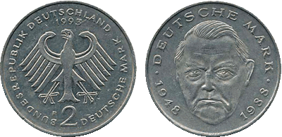 1993 - 2 Deutsche Mark BRD